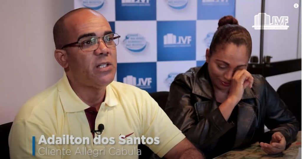 Adailton dos Santos, cliente Allegri Cabula