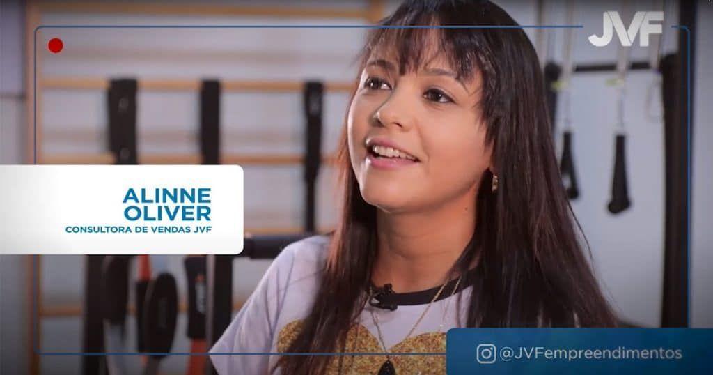 Alinne Oliver, corretora JVF