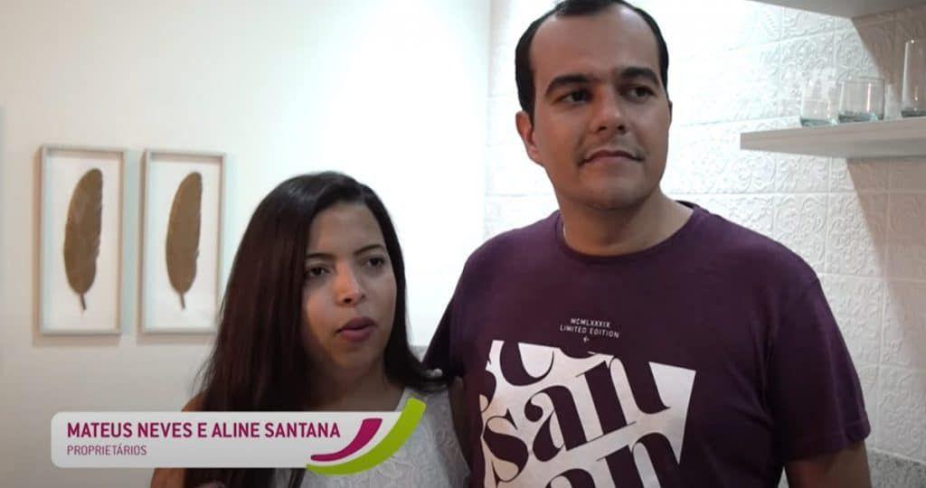 Matheus e Aline, clientes Allegri Cabula