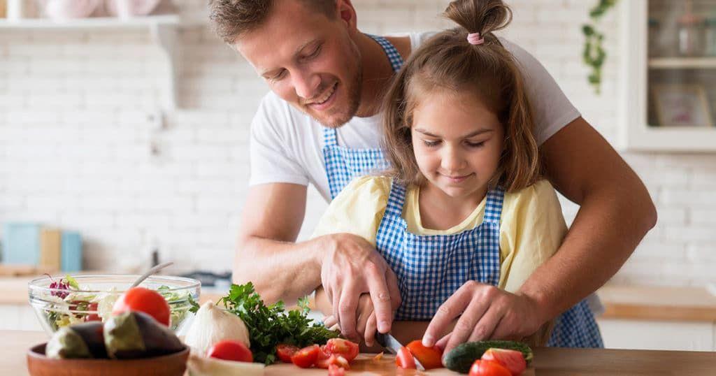 Cozinhar com os filhos